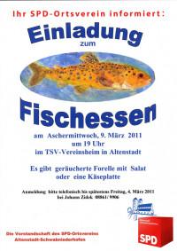 Einladung zum alljährlichen Fischessen am Aschermittwoch, 2011